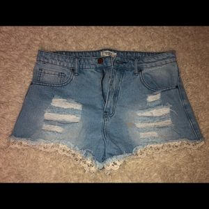 Forever 21 High Rise Jean Shorts